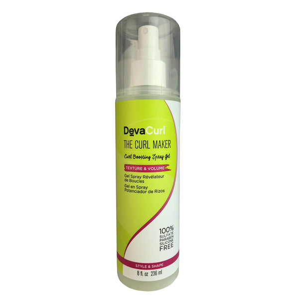 DevaCurl The Curl Maker Volume Boosting Hair Spray Gel 8 oz 100% Sulfate Free