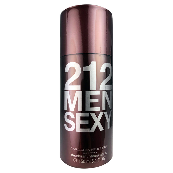 212 Men Sexy By Carolina Herrera Deodorant Natural Spray for Men 5.1 oz