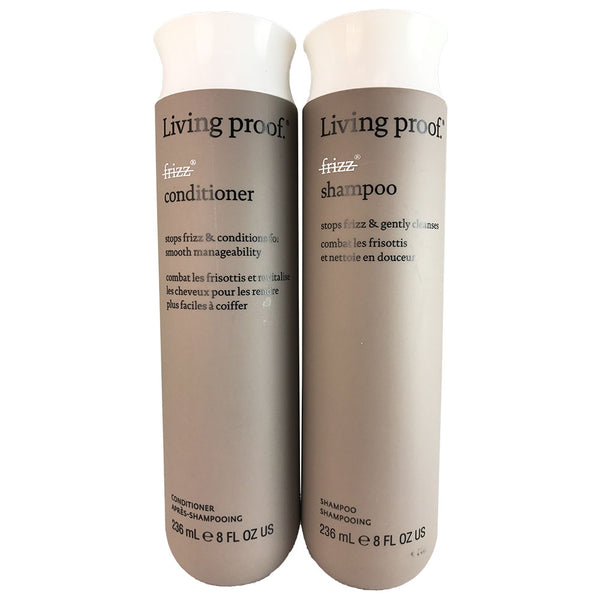 Living Proof No Frizz Hair Shampoo and Conditioner Set  8 oz Each