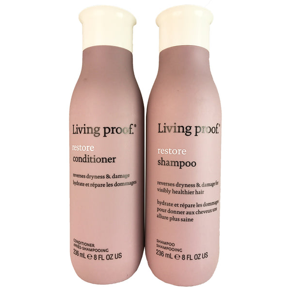 Living Proof Restore Hair Shampoo and Conditioner Duo 8 oz Each