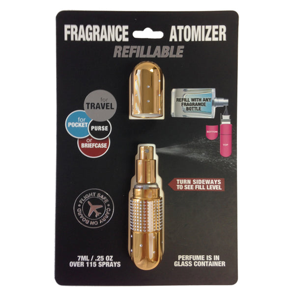 Ref. Atomizer Crystal Luxury Gold .25 oz
