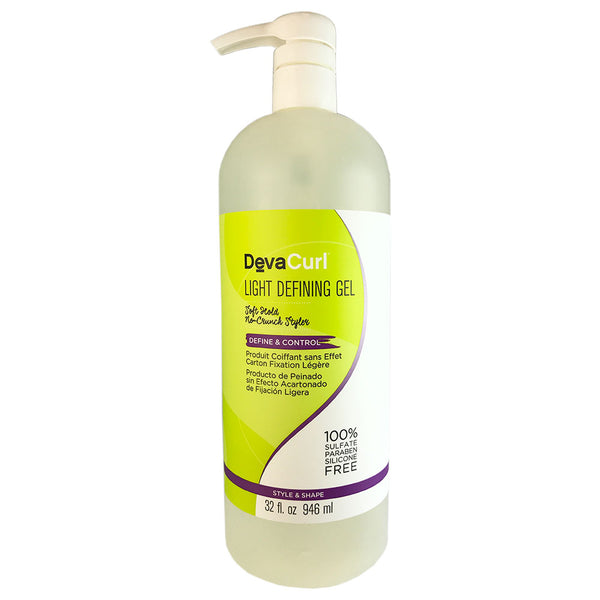 Devacurl Light Defining Gel  Soft Hold No Crunch Hair Styler 32 oz