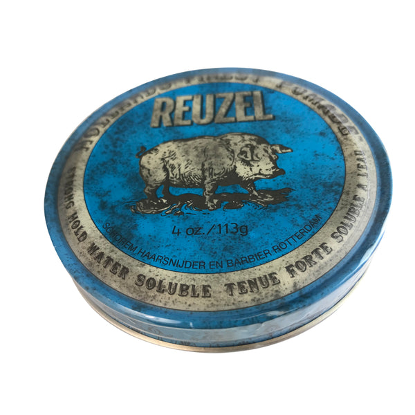 Reuzel Hollands Finest Hair Pomade Strong Hold Water Soluble + Sheen/Blue 4 oz