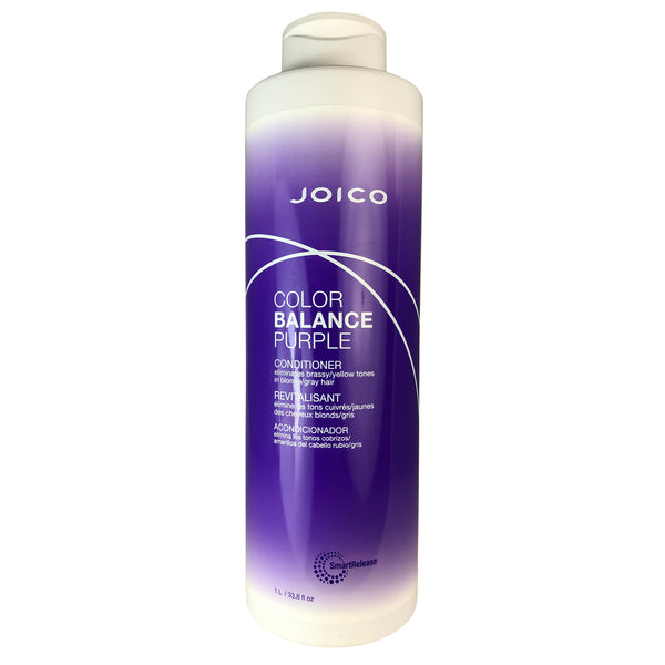 Joico Color Balance Purple Conditioner Eliminates Brassy Yellow Tones on Blonde/Gray Hair 33.8 oz