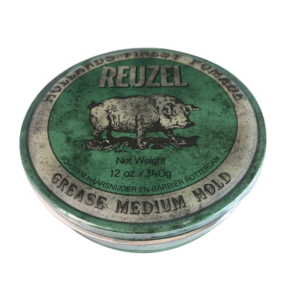 Reuzel Hollands Finest Grease Medium Hold Hair Pomade 12 oz Green Can