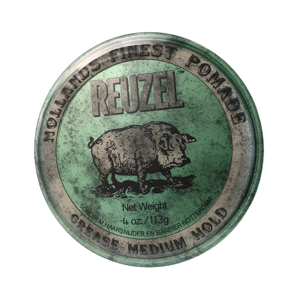 Reuzel Hollands Finest Grease Medium Hold Hair Pomade 4 oz/Green Can