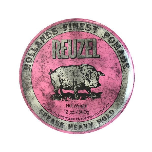 Reuzel Hollands Finest Pomade Hair Grease Heavy Hold 12 oz /Pink Can