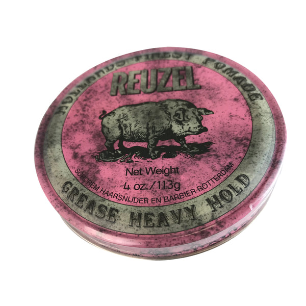 Reuzel Hollands Finest Heavy Hair Grease 4 oz - Pink Can