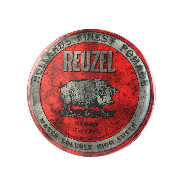 Reuzel Hollands Finest Hair Pomade Water Soluble + High Sheen 12 oz/Red Can
