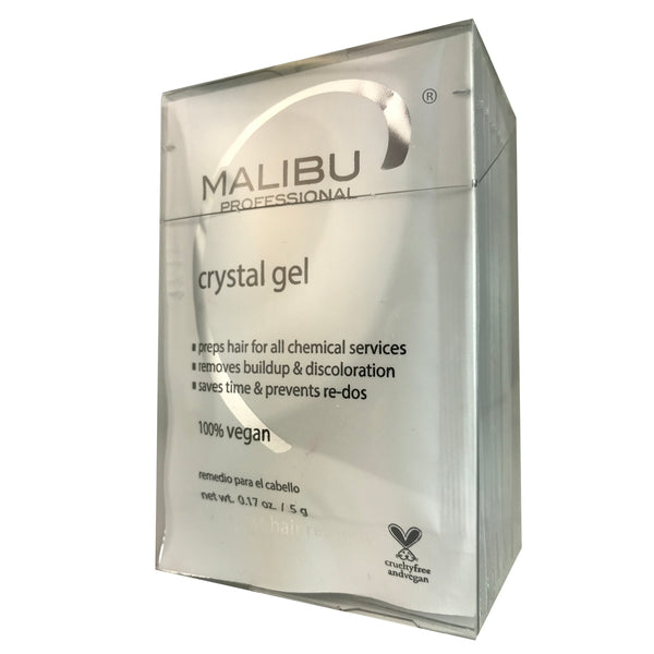 Malibu Hair care Crystal Gel Box By Malibu Of 12  0.17 oz Each