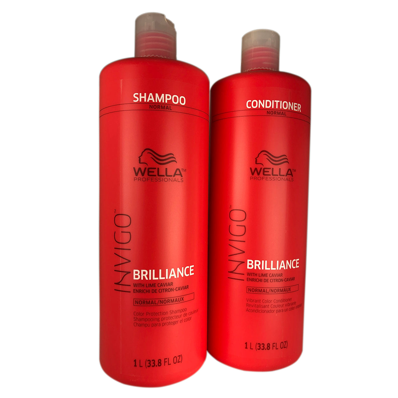 Wella Brilliance Shampoo and Conditioner Duo 33.8 oz Each Fine to Normal Hair