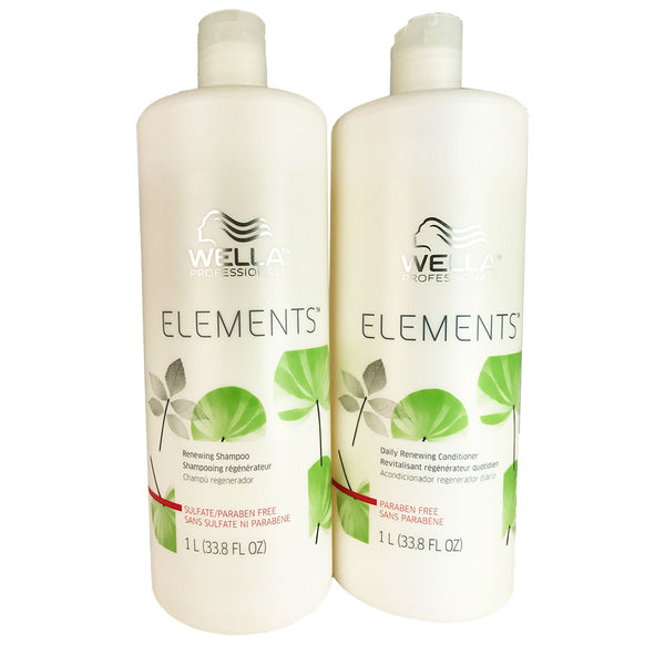 Wella Elements Hair Shampoo and Conditioner Duo Each 33.8 oz