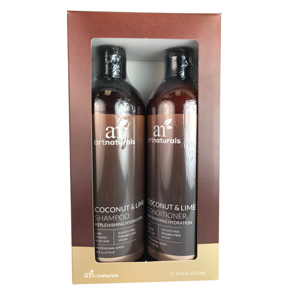 Artnaturals Coconut Lime Shampoo & Conditioner Duo 16oz. Ea. Sulfate Free/Vegan
