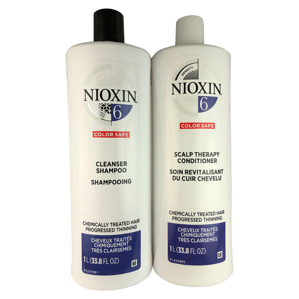 Nioxin System 6 Cleanser And Scalp Hair Therapy Duo 33.8 oz Each