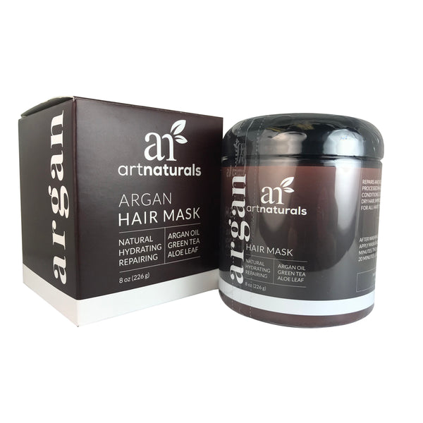 Artnaturals Argan Oil Green Tea Hair Mask 8 oz Hydrates & Repairs