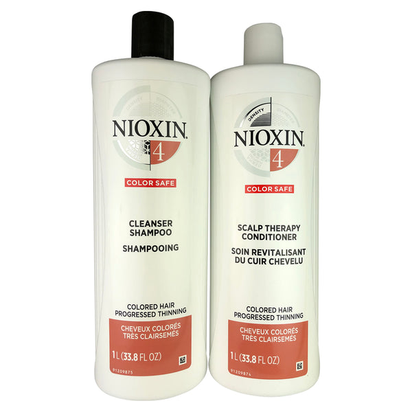 Nioxin System 4 Cleanser And Scalp Hair Therapy Duo 33.8 oz Each