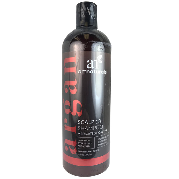 Artnaturals Argan Scalp 18 Hair Shampoo with Medicated Coal Tar 16 oz