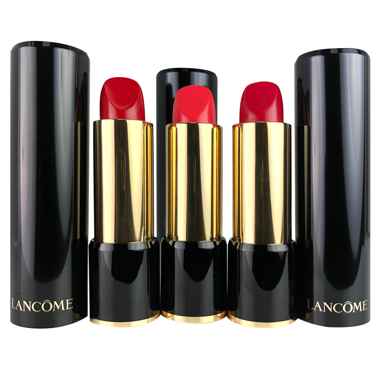 Lancome 3 Piece L'Absolu Rouge Hydrating Lipstick .12 oz