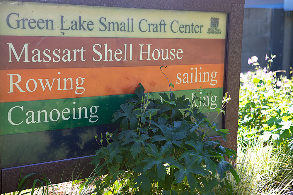 Green Lake sign of activities
