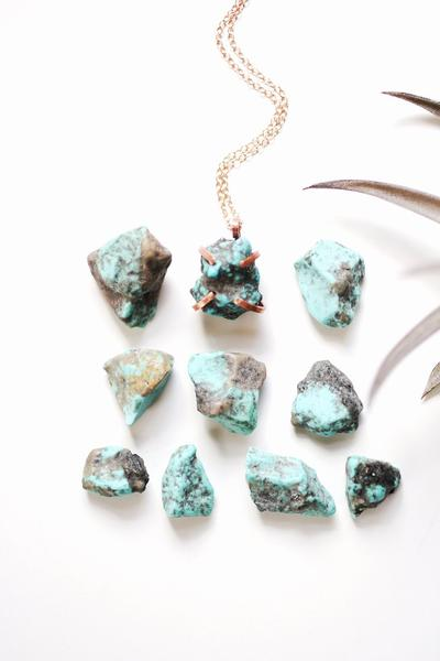 Rare Bird Designs - Raw Turquoise Claw Necklace