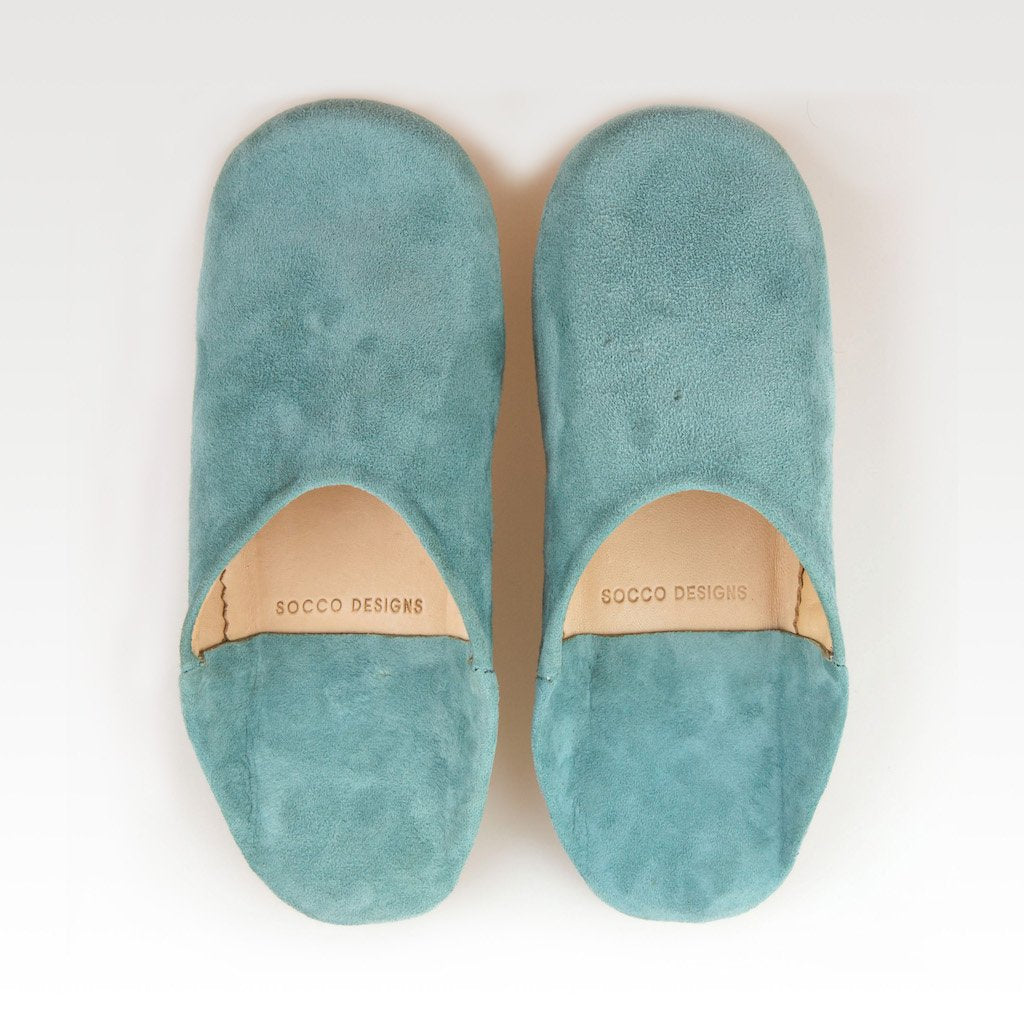 SOCCO WHOLESALE - Suede Slippers,Turquoise