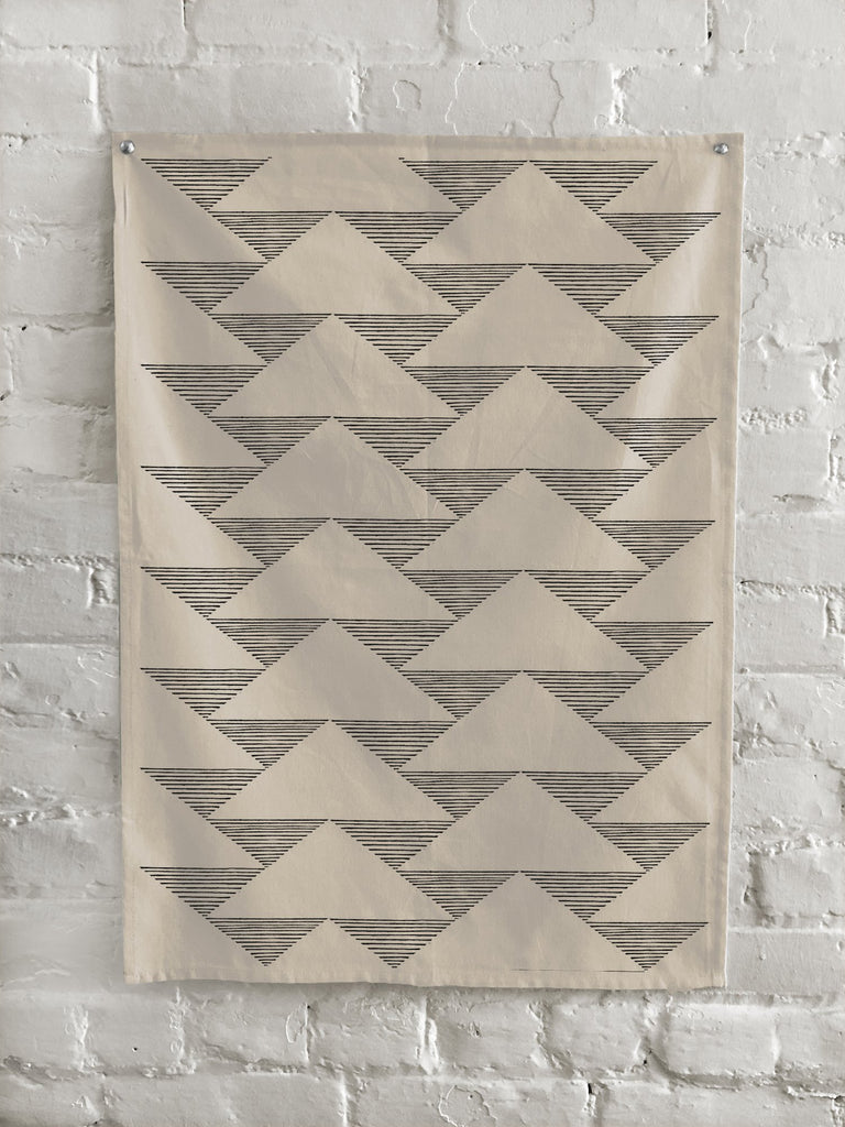The Rise And Fall - Triangles Kitchen Towel - Natural