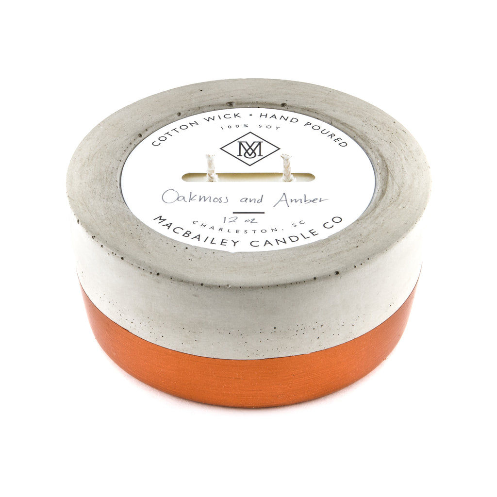 MacBailey Candle Company - Concrete Candle 12oz - Copper Dipped