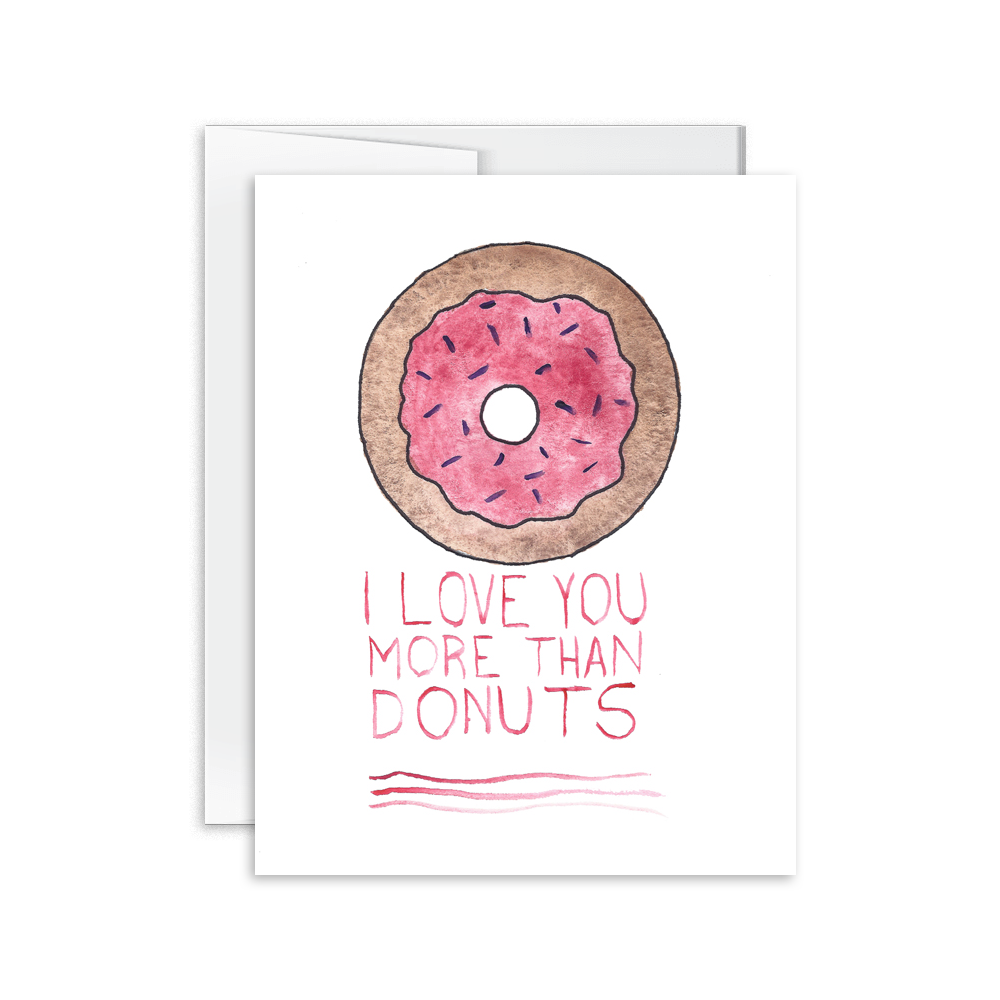 Hello Happiness Card Co - I Love You More Than Donuts Card