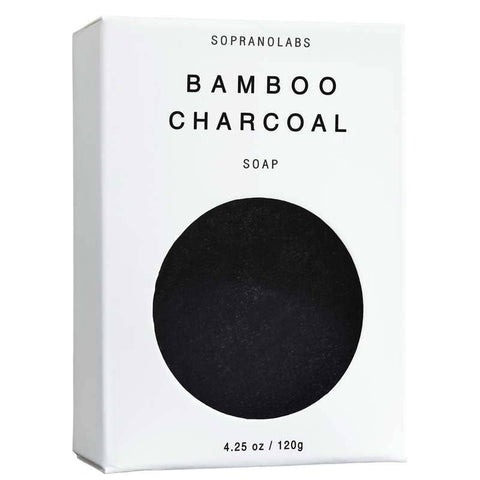 SopranoLabs - Bamboo Charcoal Vegan Soap. Gift for her/him 4.25 oz