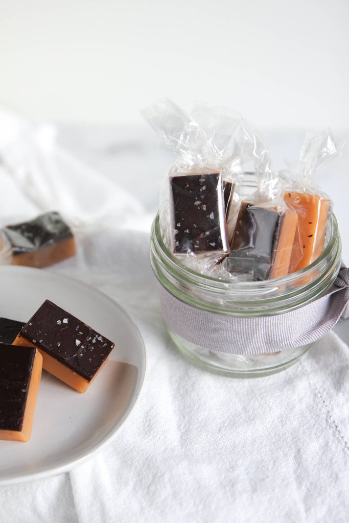 Dark Chocolate Sea Salt Caramels - 4 Piece Bag