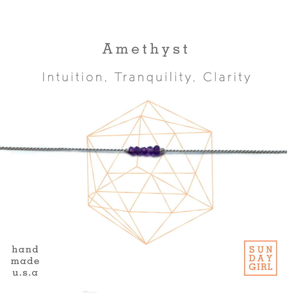 Sunday Girl Studio - Crystal Intention Bracelet - Amethyst