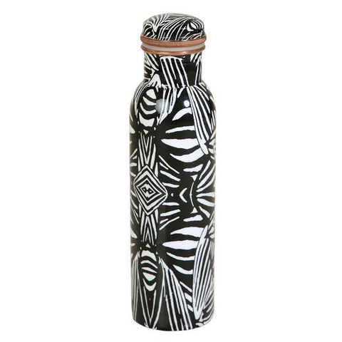 Zebra Print Copper Bottle - 33oz
