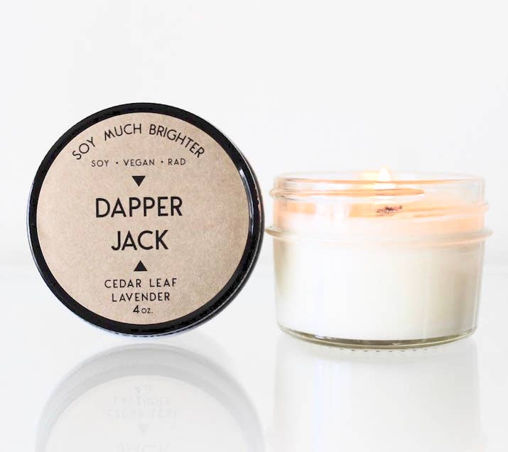 Soy Much Brighter Candle Co. - Dapper Jack: Dapper Jack: Cedar Leaf + Lavender // 4oz