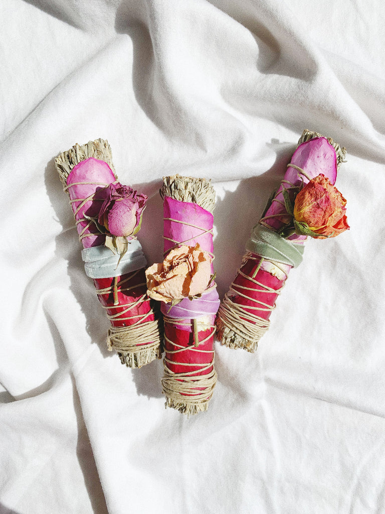 Black + Jane - Blue Sage and Roses Smudge Stick