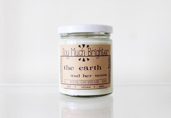 Soy Much Brighter Candle Co. - The Earth and Her Moon: Cedar Wood + Patchouli + Clove //8oz
