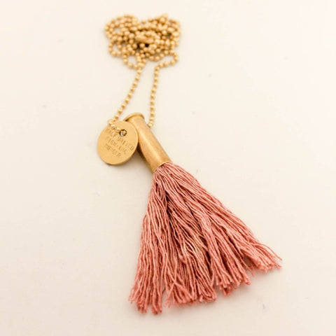 The Faye Necklace - Blush