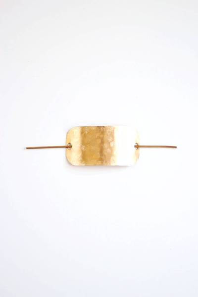 Rare Bird Designs - Hammered Bar Hair Pin
