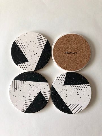 Tramake - MEMPHIS Ceramic Coasters - 4 piece set