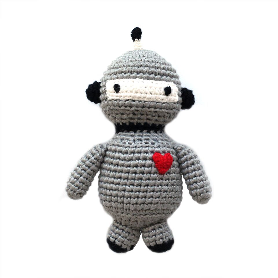 Cheengoo - Robot Hand Crocheted Rattle