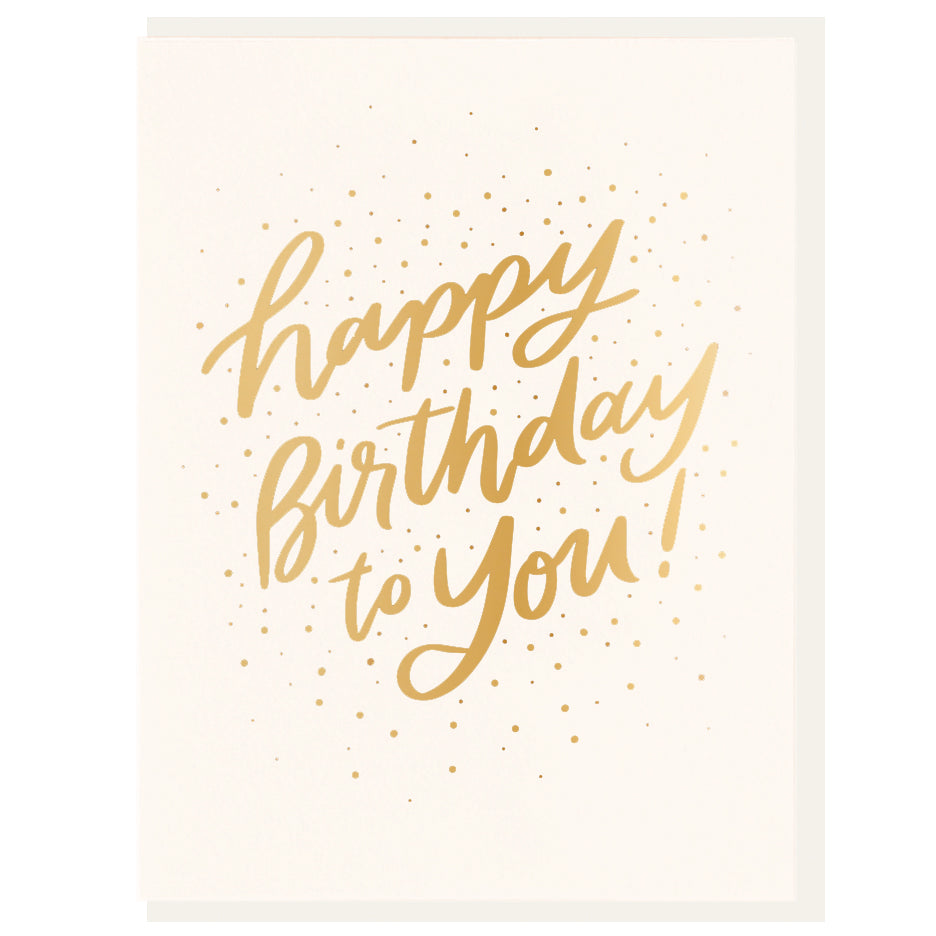 Dahlia Press - Birthday Burst - Foil Card