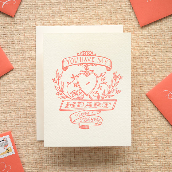 Antiquaria - Heart Crest Greeting Card