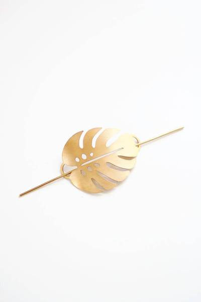 Pauline Stanley Studio - Monstera Leaf Hair Pin
