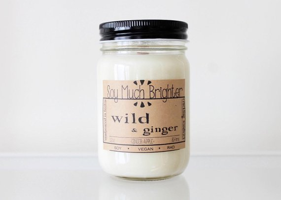 Soy Much Brighter Candle Co. - Wild & Ginger: Ginger + Apple // 12oz
