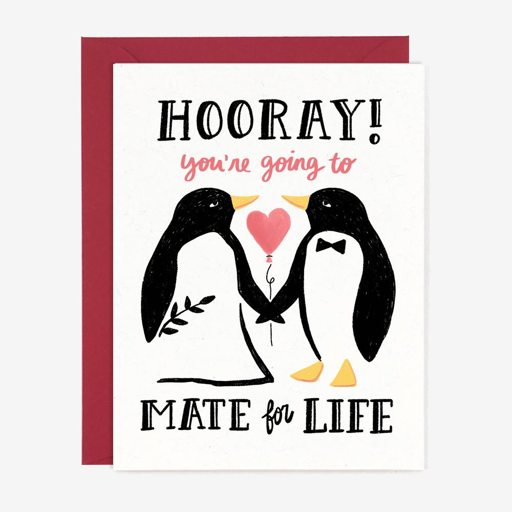 Paper Pony Co. - Mate For Life Wedding Card
