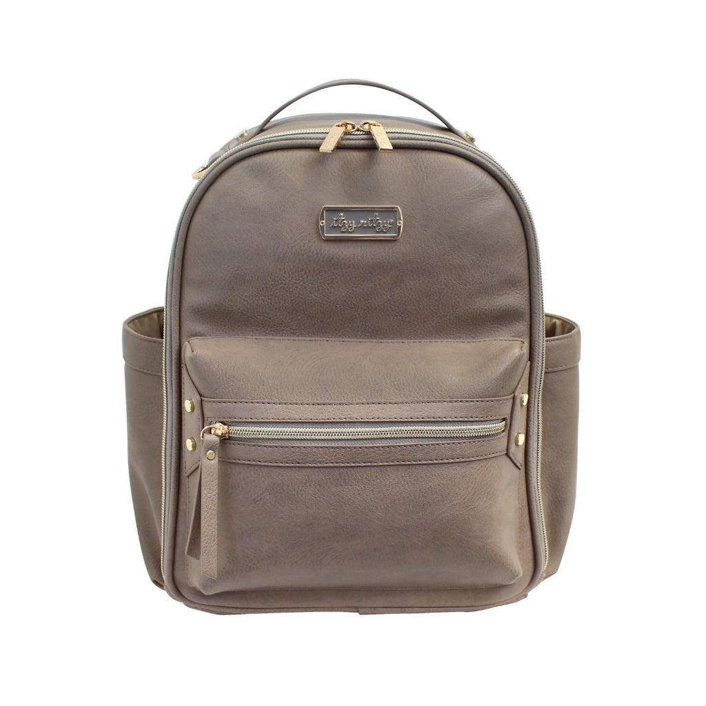 Itzy Ritzy - Taupe Mini Diaper Bag Backpack
