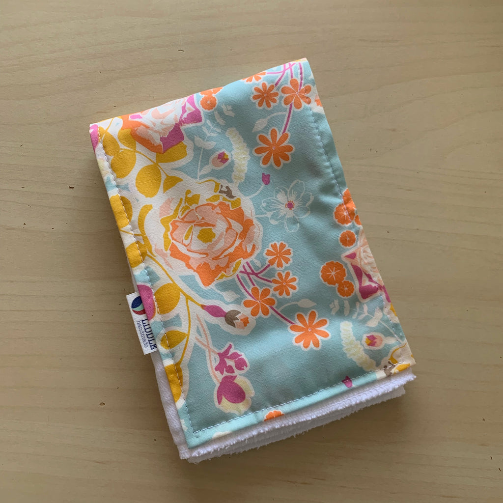 Liddle Handmade - Spring Flowers Burp Cloth