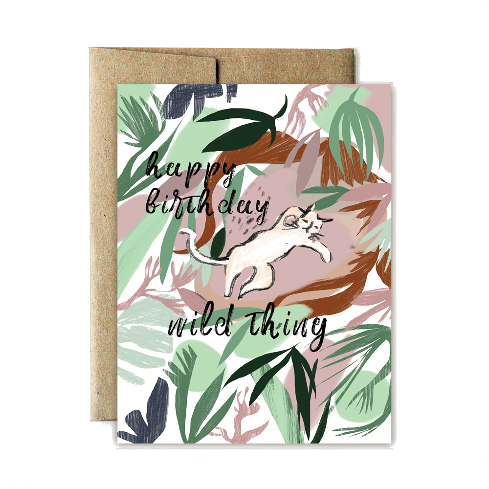Ferme à Papier - Jungle Cat Birthday Card