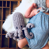 Lewie & Berg Littles - Hand Crochet Octopus Stuffed Animal Toy Gender Neutral