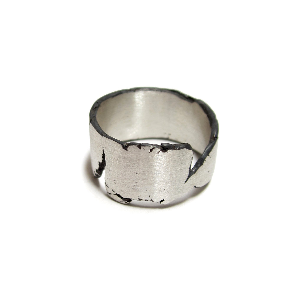 Torn Sterling Silver Rings