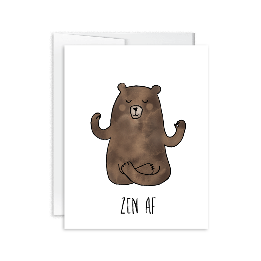 Hello Happiness Cards - Zen AF Bear